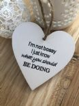 Shabby Personalised Chic Heart Gift ~ Friend ~ Humour ~ Birthday ~ Present - 253453019003